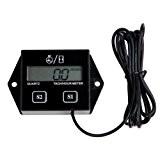 SODIAL(R) Bougies Moteur Tachymetre numerique Compteur horaire tachymetre Jauge de moto ATV