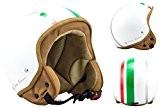 SOXON SP-301 Italy Casque Jet Chopper Cruiser Biker Pilot Vespa Moto Mofa Scooter Demi-Jet Retro Bobber Vintage Helmet, ECE certifiés, ...