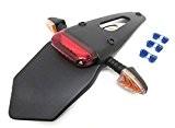 SP Support de plaque avec feu arrière LED et Clignotant pour CE MX Enduro Super Moto Universal KTM Derbi Senda ...