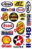 Sponsors STICKER Tuning Racing Motocross Autocollant feuille 27 x 18 cm