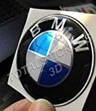 Sticker adhésif en résine gel, en relief, logo BMW 70 mm Cromato Metallizato