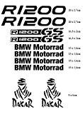 Stickers pour Moto BMW R 1200GS Motorrad Dakar Adventure Noir