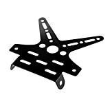 Support de Plaque D'immatriculation Moto En Alliage Réglable - Noir