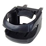 Support de Tasse Bouteille Porte-Gobelet en Plastique Noir pour Voiture