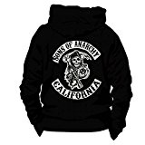 SWEAT CAPUCHE ZIPPE LOGO SONS OF ANARCHY XXL