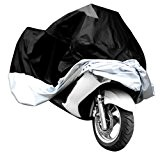 Taille XXXL Longeur Max. 295cm Grande taille Housse BACHE MOTO Scooter impermeable cache protection Couleur Argente et Noir