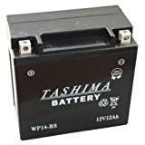 Tashima - Batterie moto WP14BS / YTX14-BS étanche au gel 12V / 12Ah