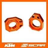 Tendeurs de chaine KTM 125 150 250 350 450 SX SX-F XC XC-F SMR 2013 2014 ORANGE SCAR
