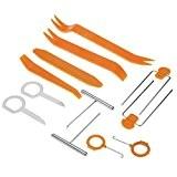 tinxi® 12 pièces outil de démontage pour la doublure intérieure de voiture + la radio Set PKW LKW
