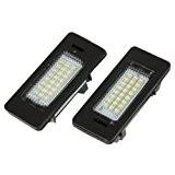 TOOGOO(R) Lot de 2 lampes 24 LED 3528 pour plaques d'immatriculation de BMW E39 E60 E61 E90 serie 5