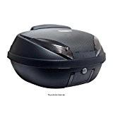 Top Case Moto S-Line 52L Noir M / Carbone Dim : 58x45x32.5cm (2 Casques) Platine, Dosseret et Poignée