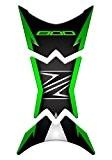 Totalstickers Autocollant protège-réservoir en résine 3D pour moto Kawasaki Z800GP-158 Dark Green