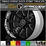 Triumph Street Triple 675 roues intérieur bandes adhésives cercles décalcomanies strip Cod. 0295 Bandages 010 Bianco