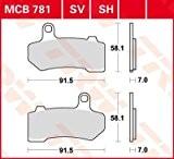 TRW lucas garniture de frein avant pour harley davidson vRSCDX sV night rod special mCB781SV à partir de 2008