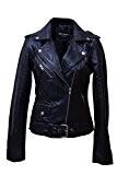 Urban Leather UR-131Biker Perfecto Ladies Veste pour femme, noir, Taille: M