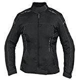 Veste Blouson Femme Moto Nylon Oxford Gilet Thermique Protections noir XL