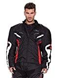 Veste Cordura pour les hommes en veste longue à manches matelassé doublure intérieure amovible et polyester. Modèle kr-jc34. Couleur noir-rouge-blanc. ...