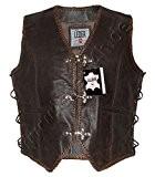 Veste en cuir brun homme GILET Chopper Biker Club de Rocker 1050-BR (2XL)