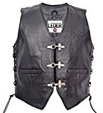 VESTE en cuir homme GILET Chopper Biker Club de Rocker 1050-SP (3XL)