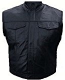 """Veste Gilet Cuir Biker Type """"Sons Of Anarchy"""" SOA - Poches Poitrines (M)"""