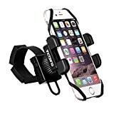 VicTsing Support Universel Vélo du Guidon Téléphone Bracelet en Caoutchouc avec Rotation à 360 pour iPhone 7 7 Plus SE ...