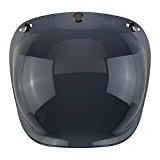 Visière bulle Bubble Fumé foncé x Casques Casque Moto Biltwell Bell DMD Bandit Yam AFX Nolan AGV Vell