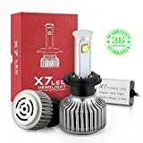 Wiseshine H7 80W full CREE LED design canbus pour moto ampoule 7200 Lumen 6000K Blanc froid