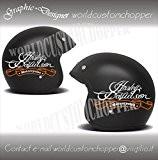 Worldcustomchopper Autocollants Harley Davidson de casque moto Custom - personnalisable