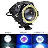 Yunshangauto®IP6 étanches 10W 1500LMW U7 LED Lampe LED Phare Avant Antibrouillard Spotlight pour Moto / VTT / Camion / vélo ...